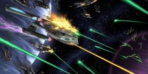Akira Class in Battle - Blaze of Glory