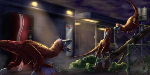 Velociraptor Brawl
