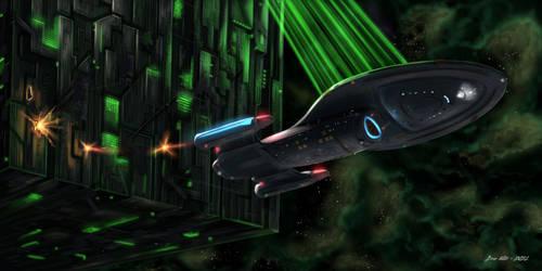 USS Voyager - Borg Escape