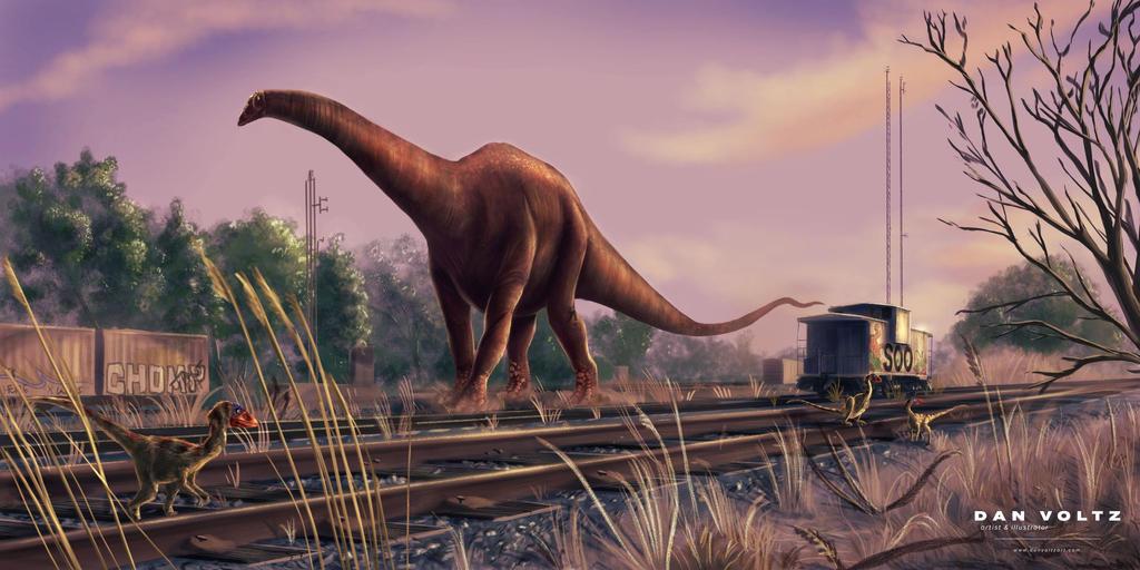 Diplodocus Train Yards