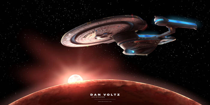 USS Enterprise-B - Standard Orbit