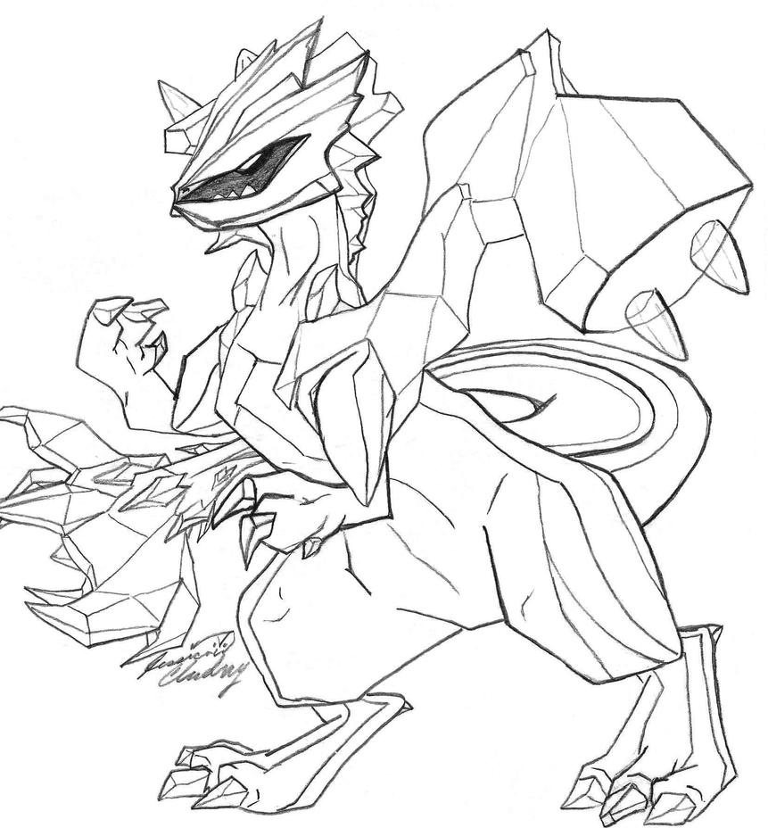 zekrom ex coloring pages | Pokemon Kyurem Coloring Pages Sketch Coloring Page