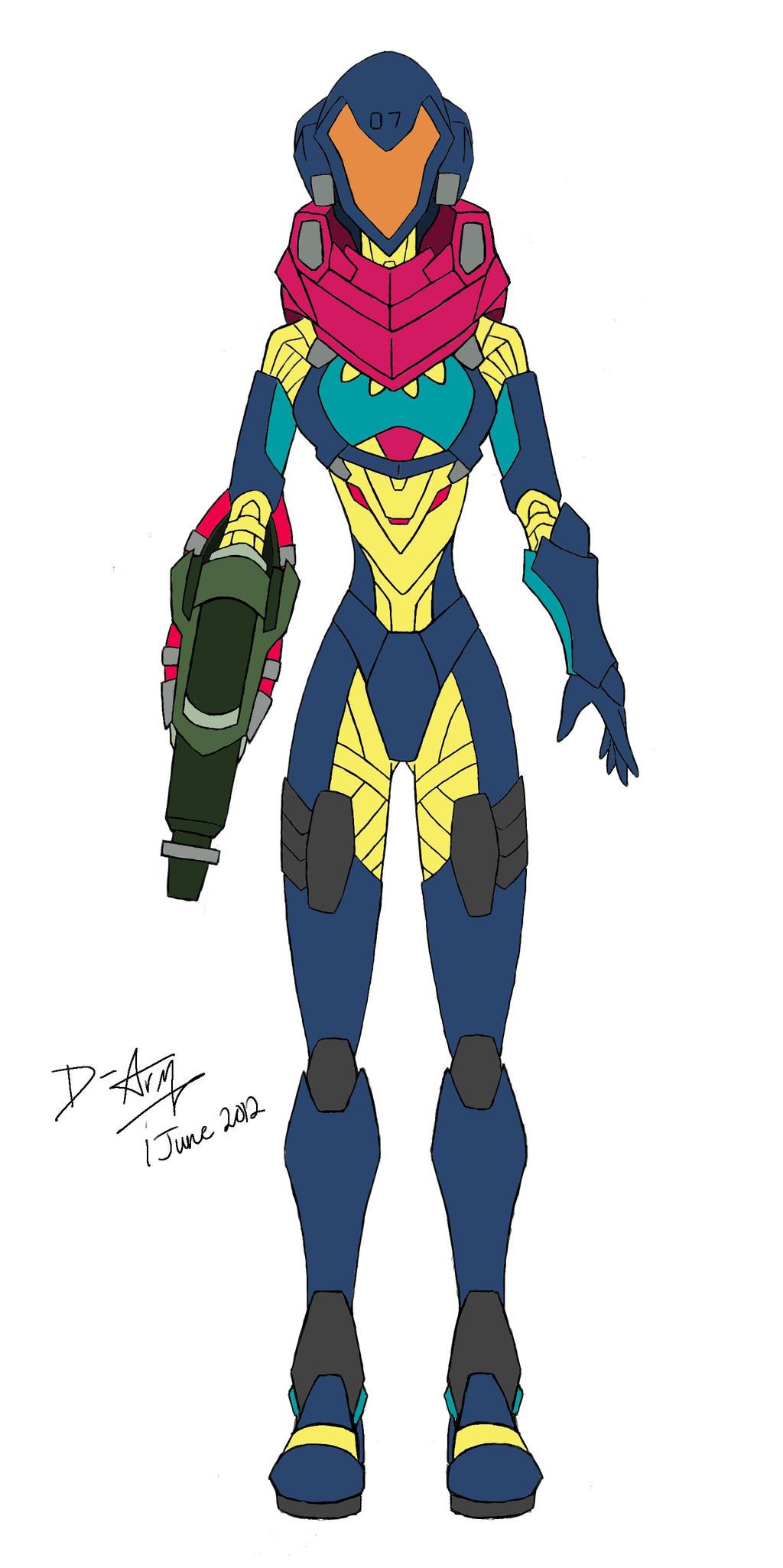 Samus Aran Fusion Suit By D Arm On DeviantArt