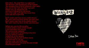 Blink 182 i miss you wallpaper by myfamilysmistake