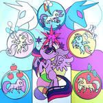 -Magical Mystery Cure- stained glass