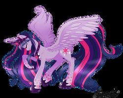 Alicorn Twilight Sparkle by linamomoko
