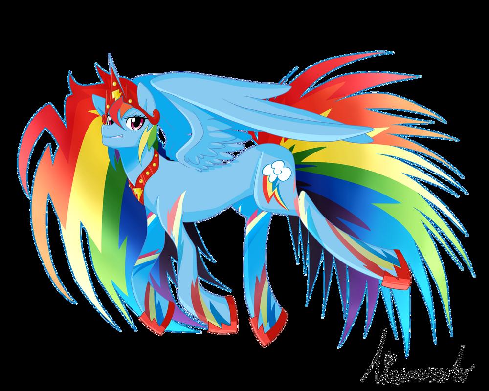 Alicorn Rainbow Dash by linamomoko on DeviantArt