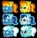 Potato chibi Ponies: Wonder Bolts