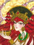 Kumari The Virgin Goddess by Mom0San