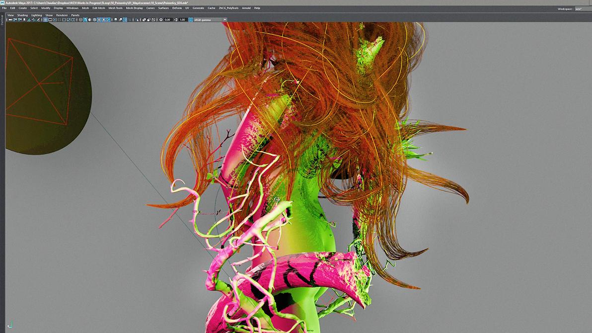 Poison Ivy - Maya Viewport 2.0 by Wizix