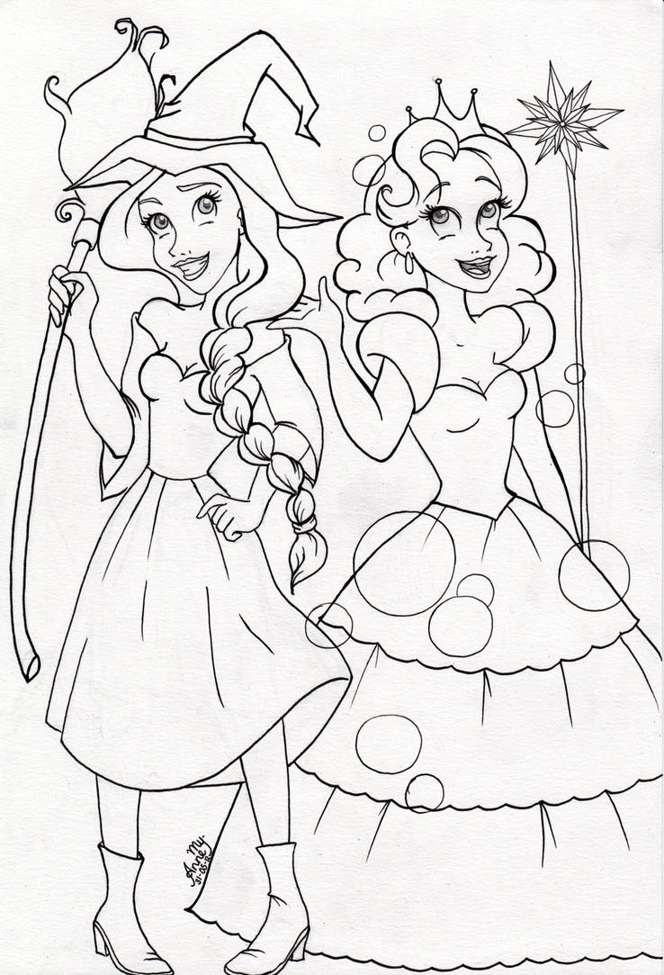 Wicked Musical Coloring Pages Sketch Page