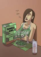 Sleepy Jungle Snacking by lightfootcomics