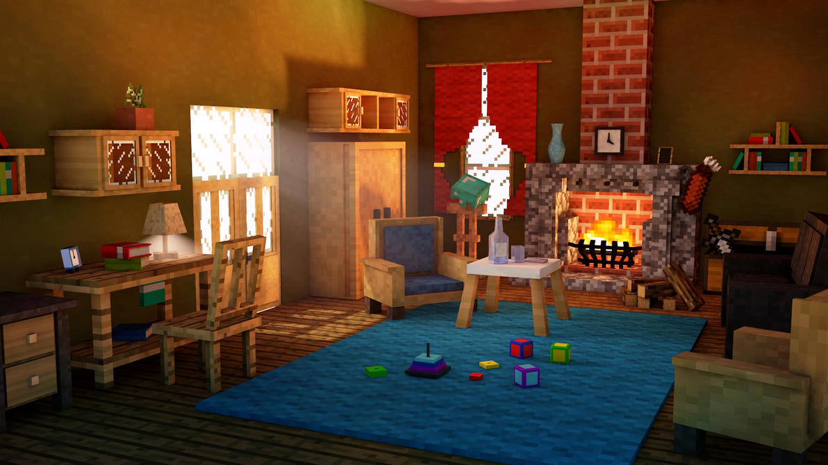 Living Room Minecraft By AlexBroAnimator