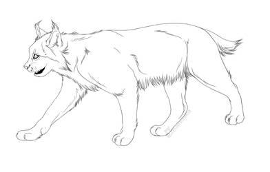 -Free Use-  Lynx Lineart by Kalenka