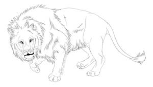 -Free Use- Lion Lineart