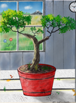 Tree in the Pot - Kitchen window by EffectiveDisorders