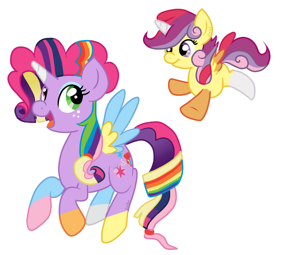 Mane 6 and CMC by Zoiby on DeviantArt My Little Pony Twilight Sparkle ...