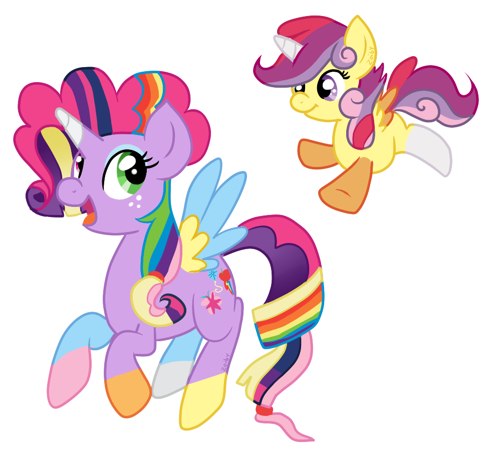 Mane 6 And CMC By Zoiby On DeviantArt