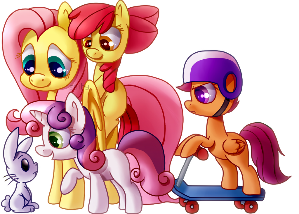 Fluttershy and the CMC by Zoiby