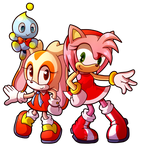 Sprite Redraw: Amy, Cream and Cheese
