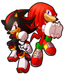 Sprite Redraw: Shadow and Knuckles