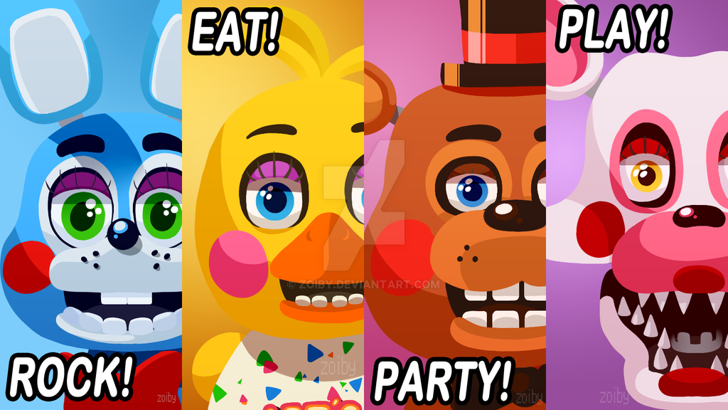 Five Nights at Freddy's 2 Poster by Zoiby