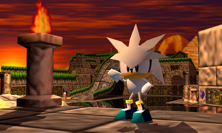 Silver The Hedgehog In Sonic R By Zoiby On DeviantArt