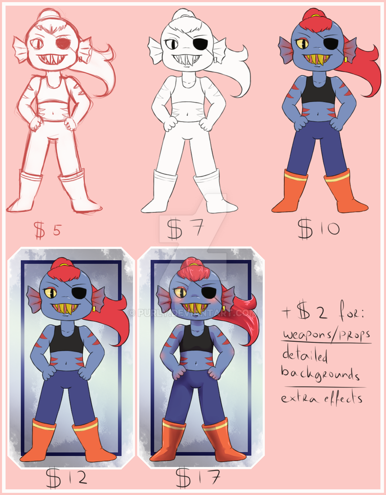 Commissionsheet by Purly