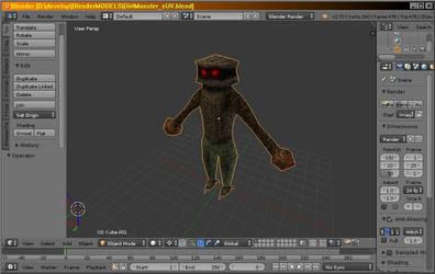 Dirt monster - 3D model