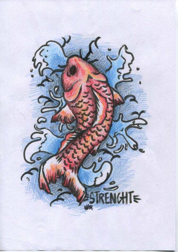Tattoo koi carp by josephinepainkiller on deviantart for Painkillers for tattoos