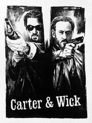 Jack Carter and John Wick by Andy Bennett! by CJZ
