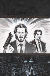 John Wick, Jack Carter and Giovanni Valletta by CJZ