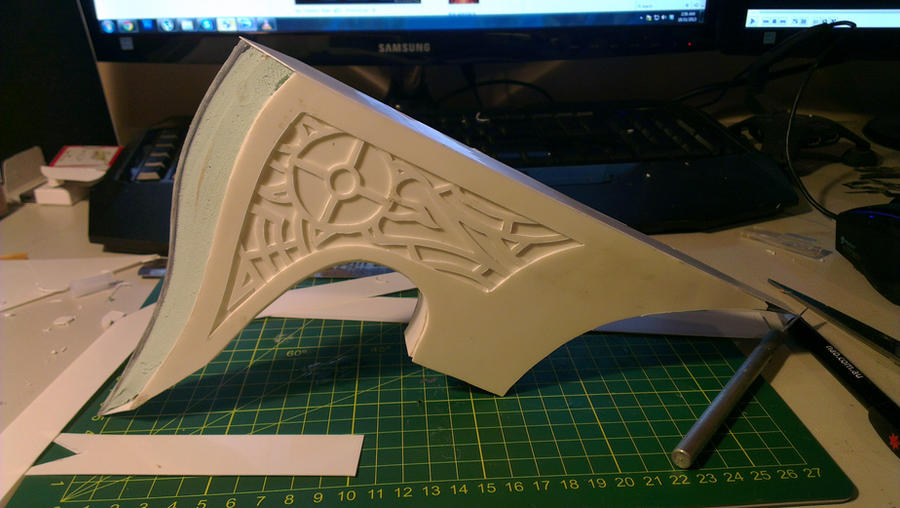 Dawnguard War Axe WIP by TheAnti-Lily