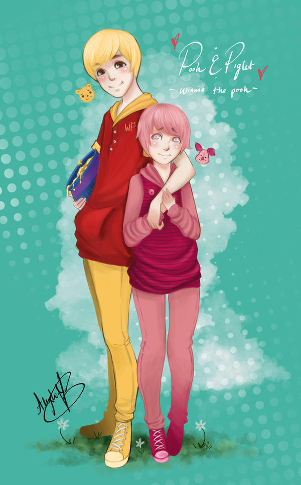 Pooh and Piglet by hleexyooj