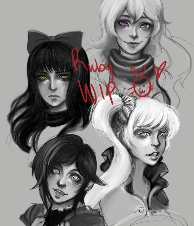 Team RWBY W.I.P by hleexyooj