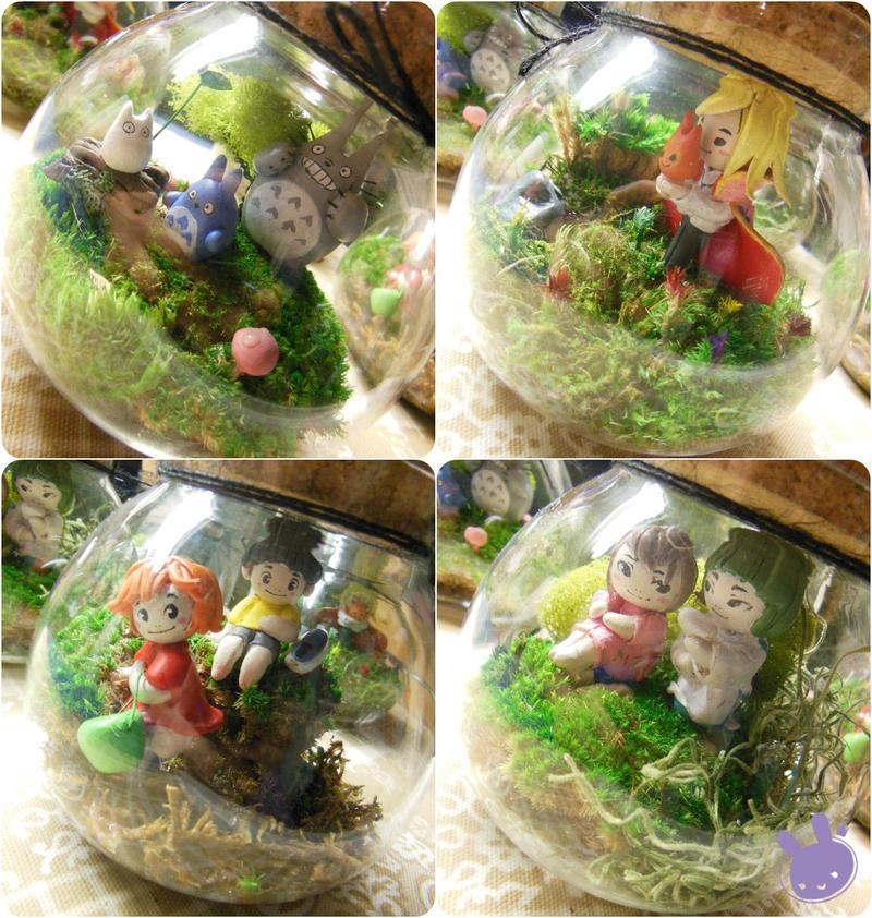 Ghibli Terrariums by hleexyooj