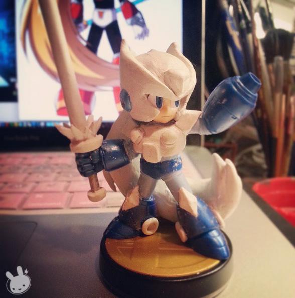 Custom Zero Amiibo W.I.P by hleexyooj