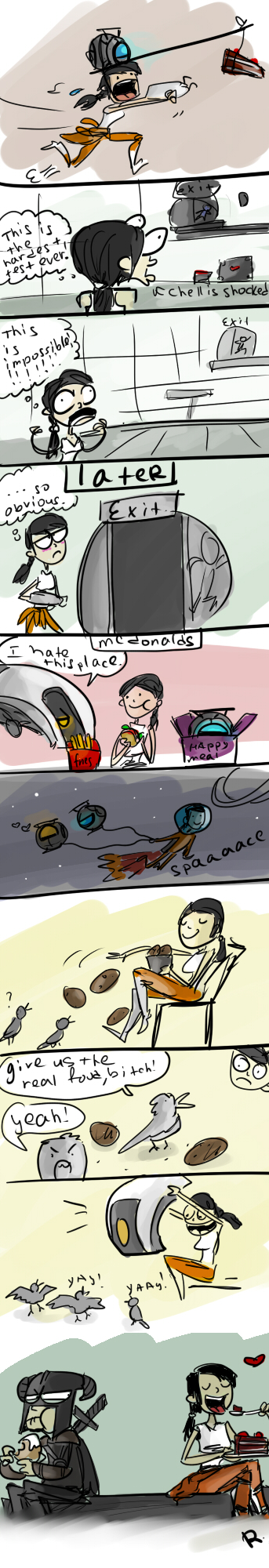 Portal 2, doodles by Ayej