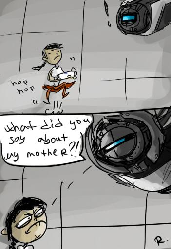 Portal 2, doodles 2 by Ayej