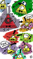 Bill Cipher, 2 by Ayej