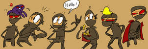 Ninjawesomness, doodles 7 by Ayej
