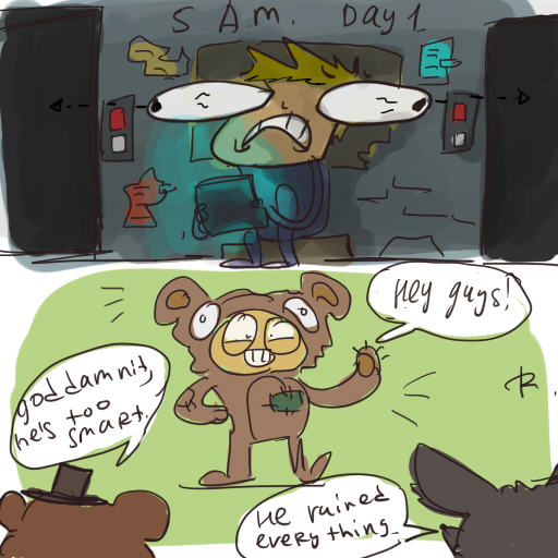 Five nights at freddy s doodles by ayej on deviantart