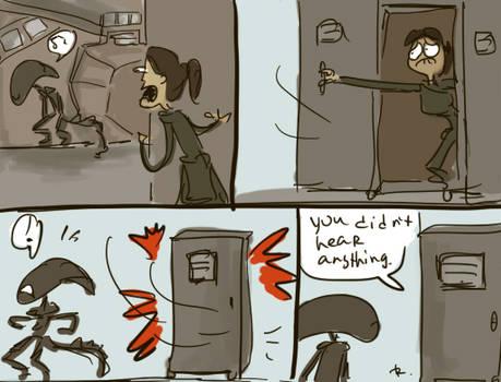 Alien: Isolation, doodles 1