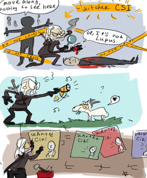 The Witcher 3, doodles 1