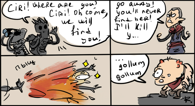 The Witcher 3, doodles 4 by Ayej