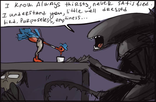 alien movie, doodles 2