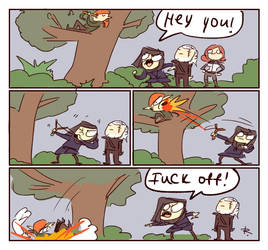 The Witcher 3, doodles 206 by Ayej