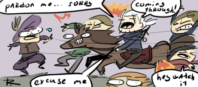 The Witcher 3, doodles 257 by Ayej