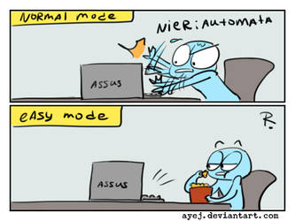 Nier Automata, doodles 1 by Ayej