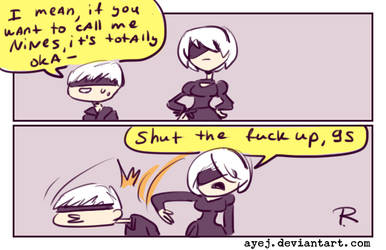 Nier Automata, doodles 2 by Ayej